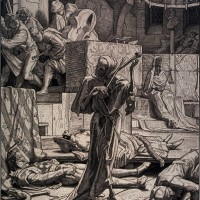 Alfred Rethel, Death as a cutthroat, 1851
