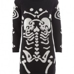 Devastee skeleton print dress