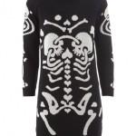 Devastee skeleton print dress