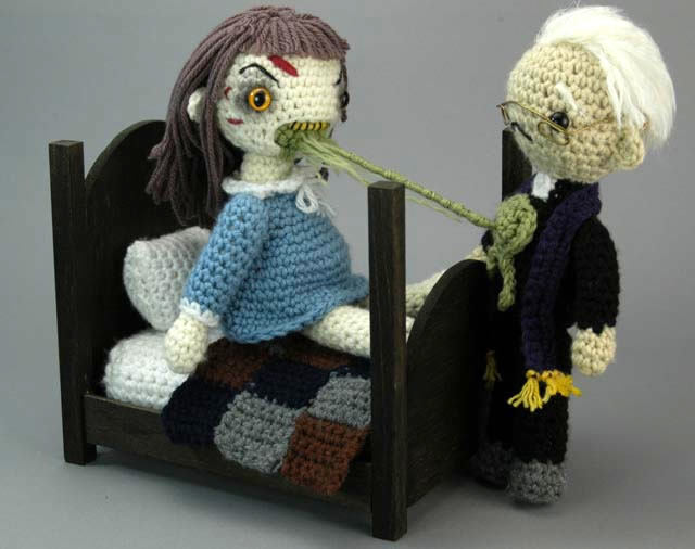 Crochet Amigurumi Exorcist Playset by Croshame.
