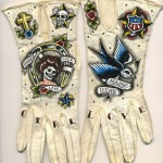 Tattooed gloves