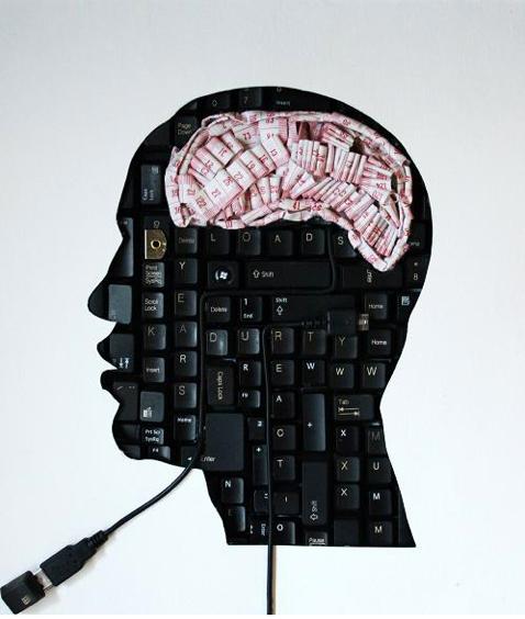 Maurice Mbikayi keyboard skull brain