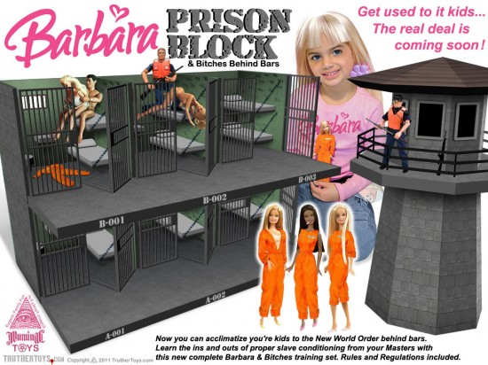 barbie doll house prison block