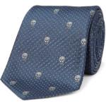 Skull Emblem Silk Tie