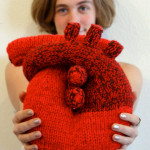Handknitted Anatomical Heart pillow