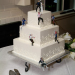 Zombie themed wedding cakes