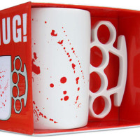 blood splatter knuckle duster mug by thabto