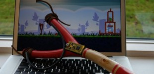 Play Angry Birds with a USB slingshot