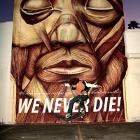 "Cyrcle - ""We never die"" mural"
