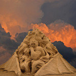 Dante's Inferno sand sculpture