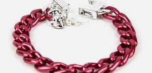 Fuchsia Aluminium Bracelet By Raf Simons