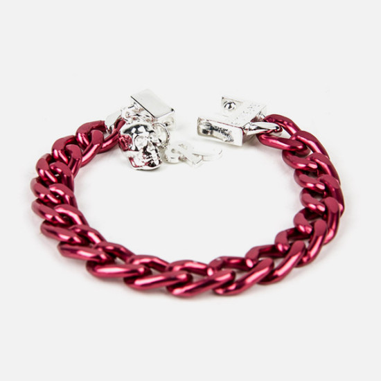 Fuchsia Aluminium Bracelet By Raf Simons