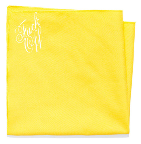 The Fuck Off Pocket Square by Mark McNairy