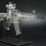 Assault Rifle Glass Smoking Pipe
