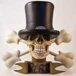 Ron English X Slash bust sculpture