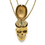 Skull & Brain Friendship Necklace Set