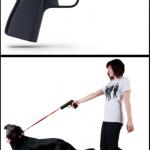 Pistol Shaped Dog Leash