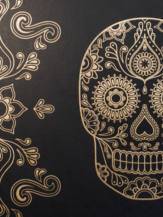 Mexican Day of the Dead Sugar Skull Wallpaper