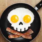 Skull-Shaped Fried Eggs