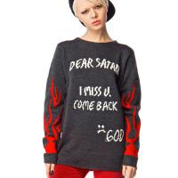 dear satan i miss u come back sweater