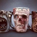 Realistic zombie mugs